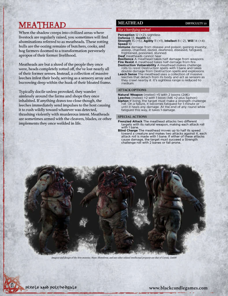 Hunt Showdown Meathead for Shadow of the Demon Lord